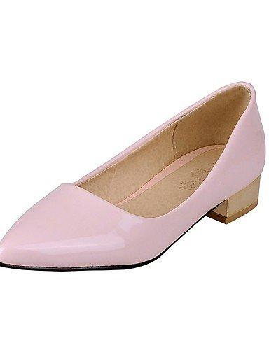 ZQ Zapatos de mujer-Tac¨®n Robusto-Confort / Puntiagudos-Tacones-Oficina y Trabajo / Casual-Cuero Patentado-Negro / Rosa / Blanco / Fucsia , black-us10.5 / eu42 / uk8.5 / cn43 , black-us10.5 / eu42 / white-us9.5-10 / eu41 / uk7.5-8 / cn42