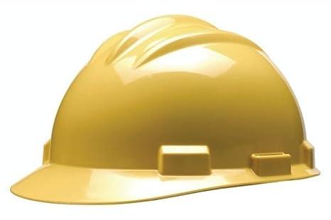 Bullard S61 duro sombrero w/trinquete suspensión, amarillo
