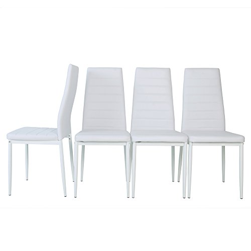 Merax Leatherette Home Furniture High Back Dining Chairs, Se