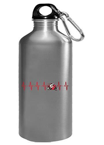 Motocross Water Bottle - Crotch Rocket Racer Heartbeat - Motorcycle Rider Gifts