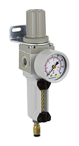 PneumaticPlus SAW2000M-N02BDG-MEP Air Filter Regulator Combo Piggyback, 1/4' Pipe Size, NPT-Auto Drain, Metal Bowl 1/4 Pipe Size