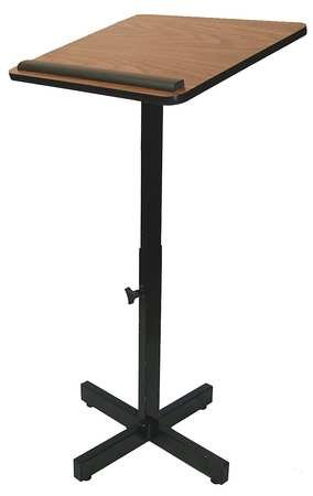 Lectern Stand, Adjustable, 30-44In, Oak