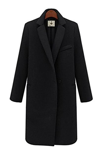 Women's Toggle Single Breasted Trench Coat Pea Winter Wool-Blend Jacket Blazer