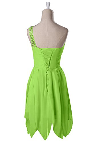 Sunvary - Vestido - para mujer verde manzana