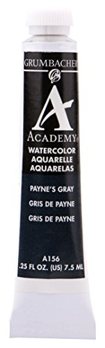 Grumbacher Academy Watercolor Paint, 7.5ml/0.25 Ounce, Payne's Gray (A156)
