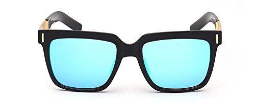 du polarisées rond soleil en vintage cercle Lennon style inspirées Bleu métallique de retro lunettes Ciel 4EqSCIwx