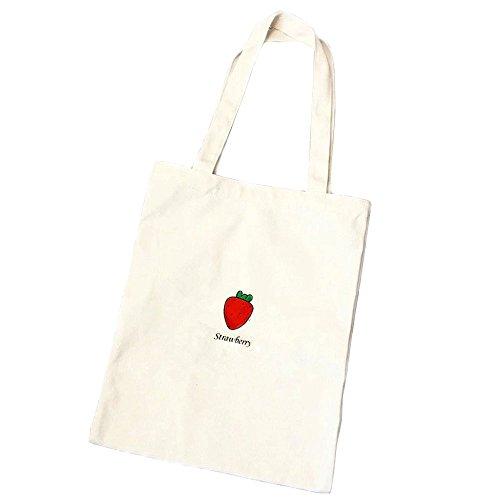 Women's Canvas Tote Shoulder Handle Bag Cute Fruit
