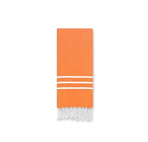 PH 1 Piece Dark Orange White Stripe 38 X 23 Inches Hand Towe
