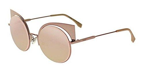 New Fendi EYESHINE FF 0177/S Z5D/0J pink/pink gold mirror Sunglasses