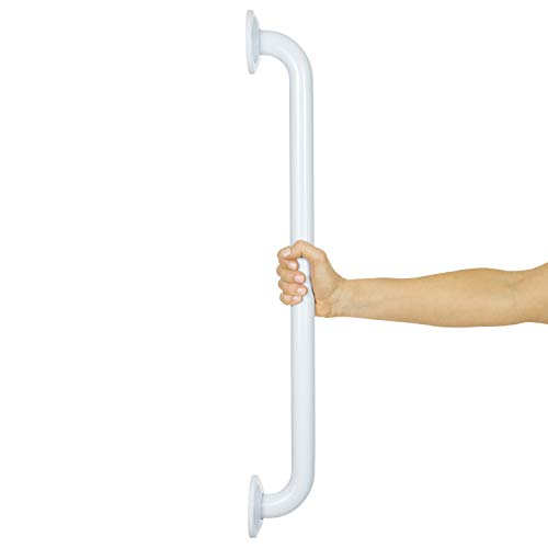 Vive Metal Grab Bar - Balance Handrail Shower Assist - Bathroom, Bathtub Mounted Safety Hand Support Rail - Stainless Steel Wall Mount for Handicap, Bath Handle, Elderly, Disabled, Injury (24 Inch) from VIVE