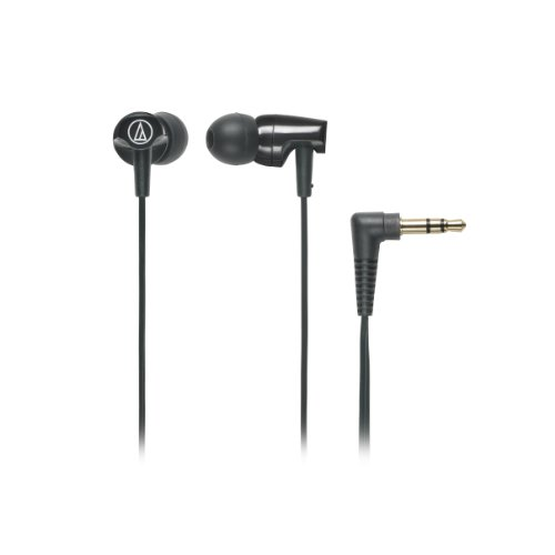 Audio-Technica ATHCLR100BK In-Ear Headphones, Black