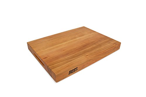 John Boos Block CHY-RA02 Cherry Wood Edge Grain Reversible Cutting Board, 20 Inches x 15 Inches x 2.25 Inches
