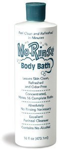 No Rinse Body Bath, 16 oz, Sold in a case of 12 by No-Rinse