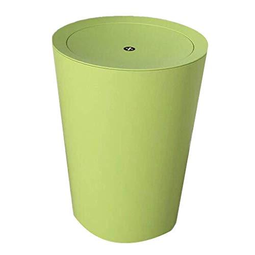 MADHEHAO Ronde Plastic Prullenbak Afvalmand, vuilnisbak met Swing Top Deksel, kleine Keuken Afval Kan Bin Voor Badkamer…