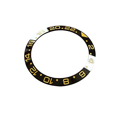 (Ceramic bezels/Inserts for Rolex Oyster Perpetual GMT-Master II Watch (Black(Gold Word)))