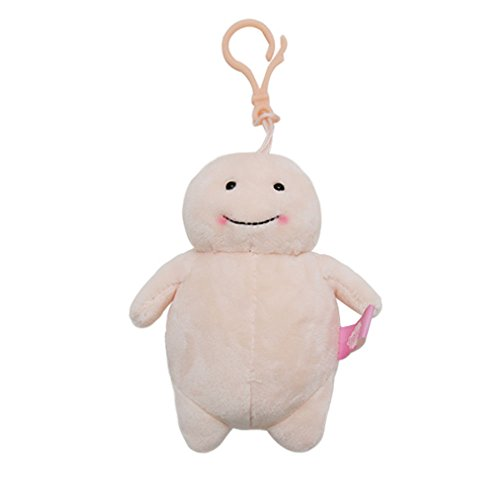 韓国 キャラクター[ チバンイ]脂肪ちゃん キーホルダー キーチャーム キーリング 飾り おもちゃ プレゼント ギフト ユニーク おもしろ雑貨 ダイエット ぬいぐるみ (13~14cm(キーホルダータイプ)  ライトオレンジ)
