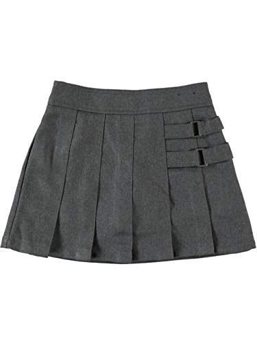 French Toast Two Tab Pleated Skort - Gray,