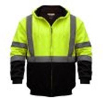 Utility Pro Uhv425x 013 Hi Vis Hooded Sweatshirt Black Yellow 4Xl