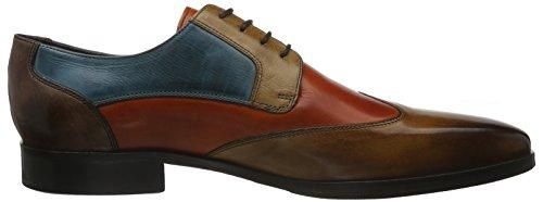 Melvin&Hamilton Lance 9, Zapatos de Cordones Derby para Hombre Marrón - Braun (Crust Wood, Orange, Tortora, Bluette, Dk.Brown/hRS)