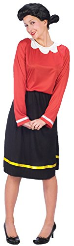 GTH Women's Olive Oyl Oil Popeye Theme Party Fancy Halloween Costume, M/L (8-14)