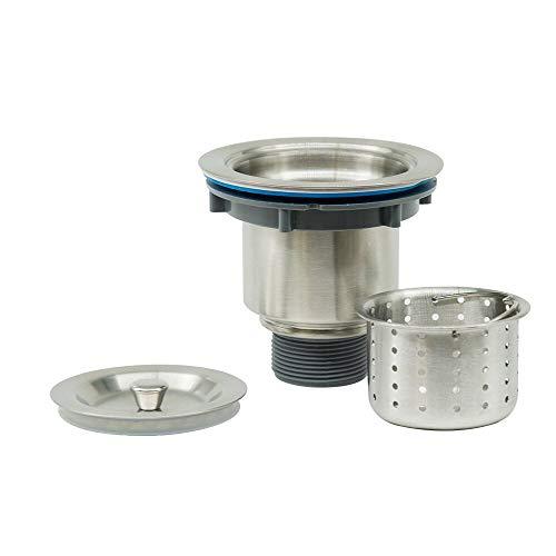 (MENSARJOR 3-1/2'' Stainless Steel Kitchen Sink Drain Strainer with Removable Deep Waste Basket/Strainer Assembly/Sealing Lid )