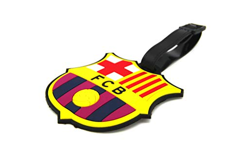 Football Club Barcelona - CellDesigns Set of 2 Soccer Team Football Club Luggage Tag Suitcase ID Tag with Adjustable Strap (FC Barcelona)