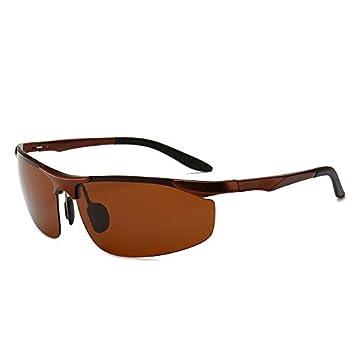 Gafas Deportivas Hombre,Gafas,de Sol polarizadas de la aleación de Aluminio-magnesio