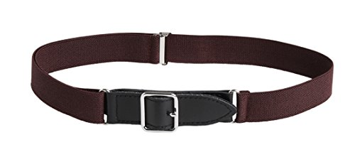 Classic Kids Belt (Sportoli8482; Kids Elastic Adjustable Leather Front Stretch Belt with Velcro Closure -)