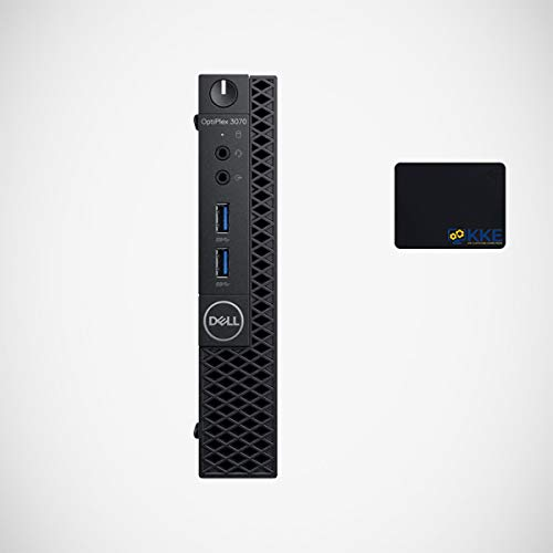 Dell OptiPlex 3070 Micro Form Factor Business Desktop, Intel Core i5-9500T, 16GB DDR4 Memory, 512GB PCIe Solid State Drive, WiFi, HDMI, Bluetooth, Wired Keyboard&Mouse, KKE Mousepad, Windows 10 Pro