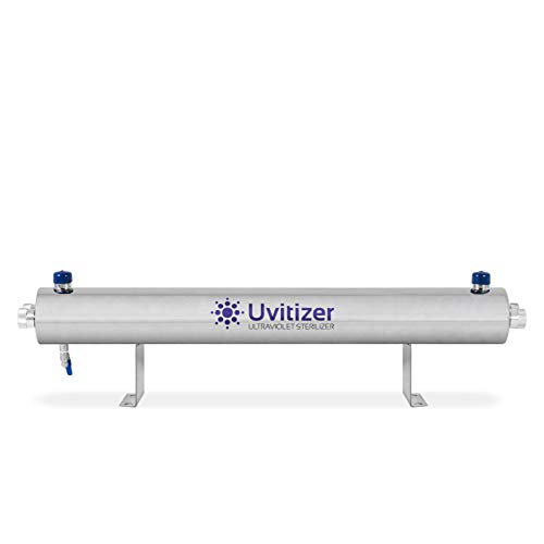 """Ultraviolet Water Purifier – UV Light Sterilizer – 38"""" Filter Housing with (2) 36"""" Bulbs – for Whole House & Commercial Systems – 24 GPM – UVITIZER"""