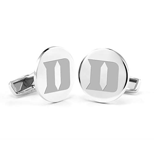 M. LA HART Duke University Cufflinks in Sterling Silver