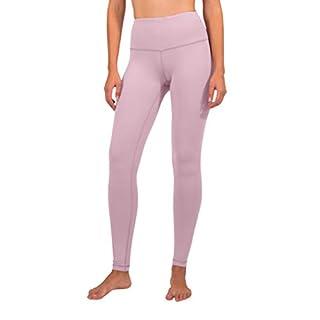 90 Degree By Reflex - High Waist Power Flex Legging - Tummy Control - Purple Luster - Large