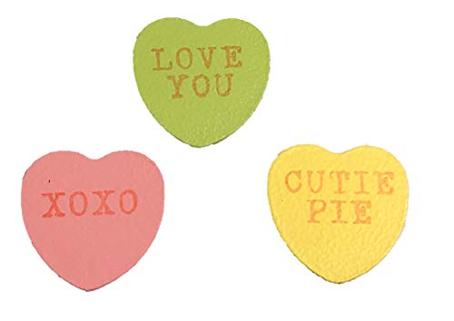 (Roeda Brigthen Your Life 13469M Valentines Day Conversation Candy Heart Magnets Set of 3 Assorted Made in USA)