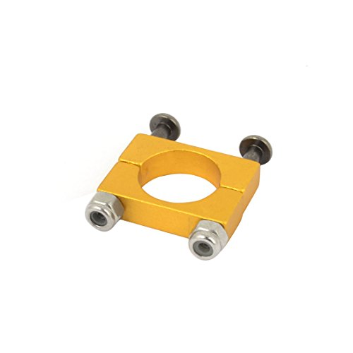 Aexit CNC Alloy Electrical equipment 12mm Tube Boom Mount Motor Clamp for DIY Quadcopter Yellow