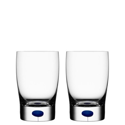 Intermezzo Blue Tumbler (Orrefors Intermezzo Blue 8.44 Ounce Tumbler/Juice, Pair,)