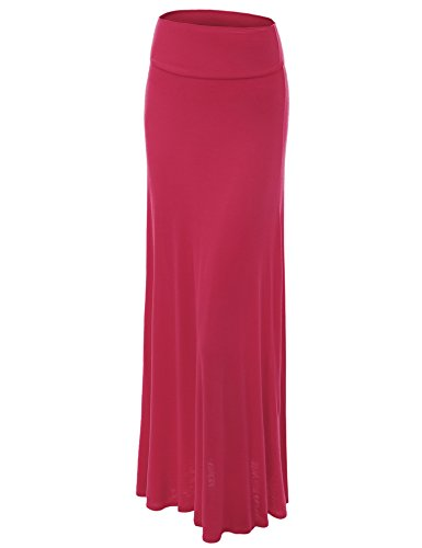 (Lock and Love WB670 Womens Fold-Over Maxi Skirt XL)