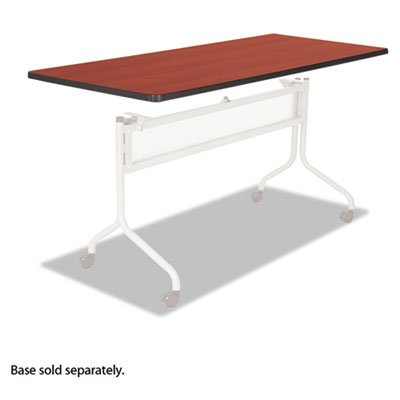 Series Mobile Rectangular Training Tables - Impromptu Series Mobile Training Table Top, Rectangular, 72w x 24d, Cherry, Sold as 1 Each