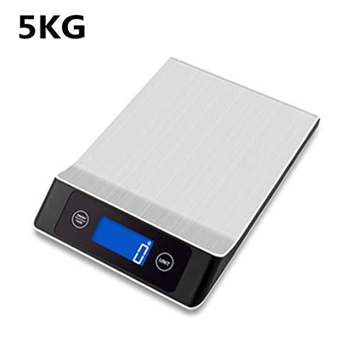 Household Kitchen 5Kg / 10Kg / 15Kg Home Kitchen Commonly Used Food Scale Stainless Steel Digital Electronic Food Scale Weighing Gadgets,5KG