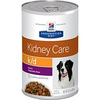 Image of Hill's Prescription Diet k/d Kidney Care Beef & Vegetable Stew Canned Dog Food 12/12.5 oz