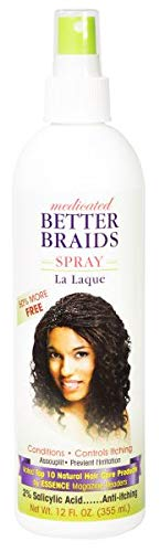 Better Braids Medicated Braid Spray, 12 Fluid Ounce
