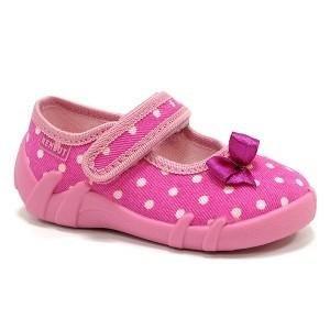Renbut Zapatillas de tela para bebé flor, a cuadros Talla:6 ( 23 EU ) lunares morados, lazo