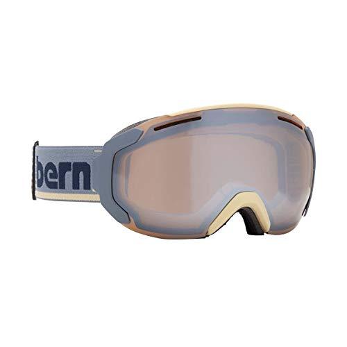Bern Juno Medium Frame Goggles, for Women, Cream/Grey (Gold/Yellow/Blue Mirror Lens Included) (Bern Yellow Helmet)
