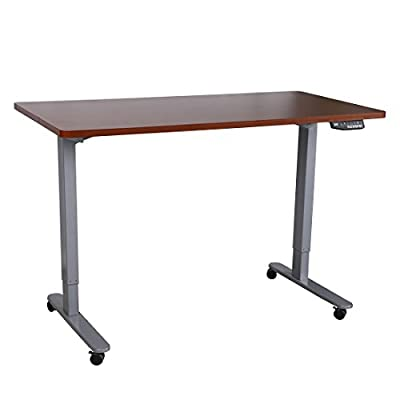 FlexiSpot Electric Height Adjustable Standing Desk Stand Up Desk w/ Automatic Memory Smart Keypad Removable Casters