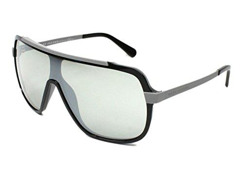Marc Jacobs 593/S Sunglasses Black Gray Rubber / Silver - Sunglasses Shield Marc Jacobs