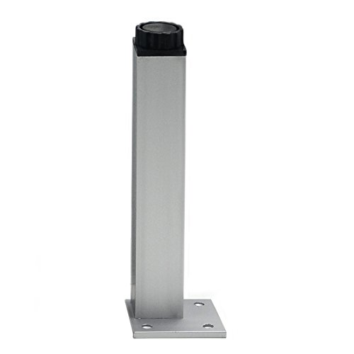 Angelakerry 4pcs 40cm Furniture Legs Cabinet Feet Aluminum Metal Leg Table Adjustable Square Base by AngelakerryAmazon