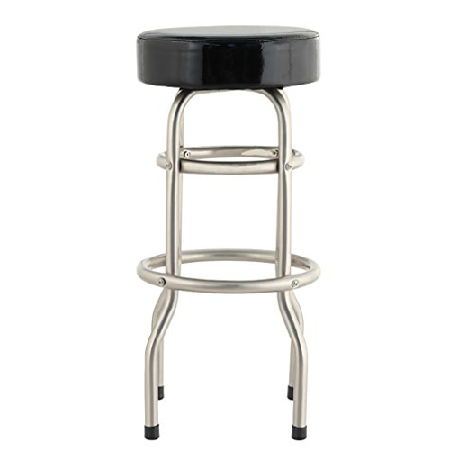 AIDELAI Stool chair Stainless Steel Stool Cash Register Front Desk Chair High-iron Wrought Iron Bar Stool Chair Modern Minimalist Home Bar Stool (42 74cm) Saddle Seat (Round Table Iron 42 Wrought)