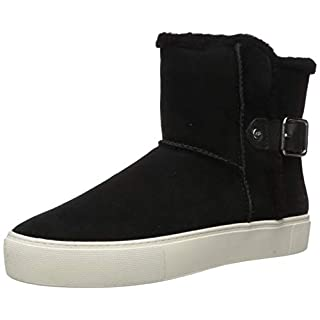 UGG Women's AIKA Ankle Boot, Black Suede, 5 M US