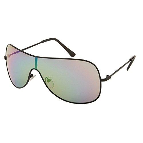 Disques lunettes de soleil pilotes Chic-Net mono lunettes métal teinté coloré 400 UV bracelet unisexe casquettes argent K4SJCJ2