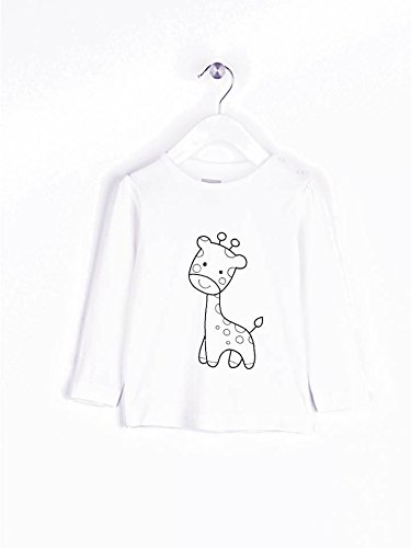Camiseta bebe para colorear. Opcional rotuladores textiles y ...