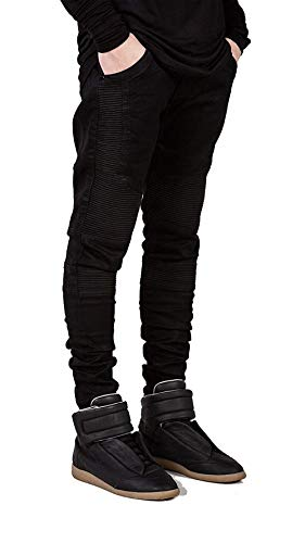 Slim Retro Da Nero Fit Jeans Uomo Strappati Stretch Distrutti Especial Skinny Biker Estilo Denim wqCEZSpRx